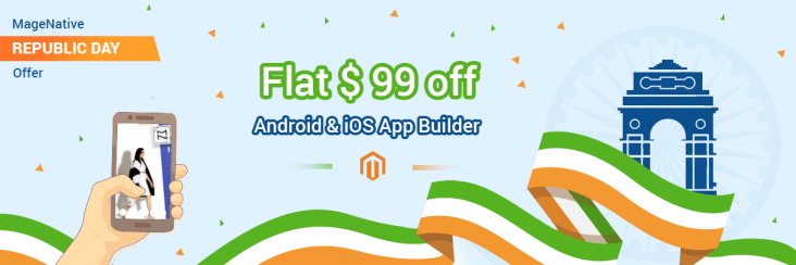 MageNative REPUBLIC DAY Offer on Magento Mobile App