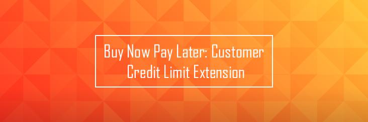 Customer credit limit extension