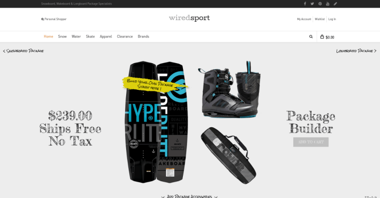 Magento 2 migration wiredsport homepage