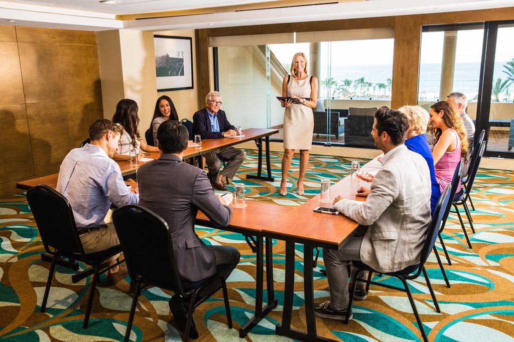 Hyatt-Ziva-Los-Cabos-Oceanview-Meeting-Room-Female-Speaker