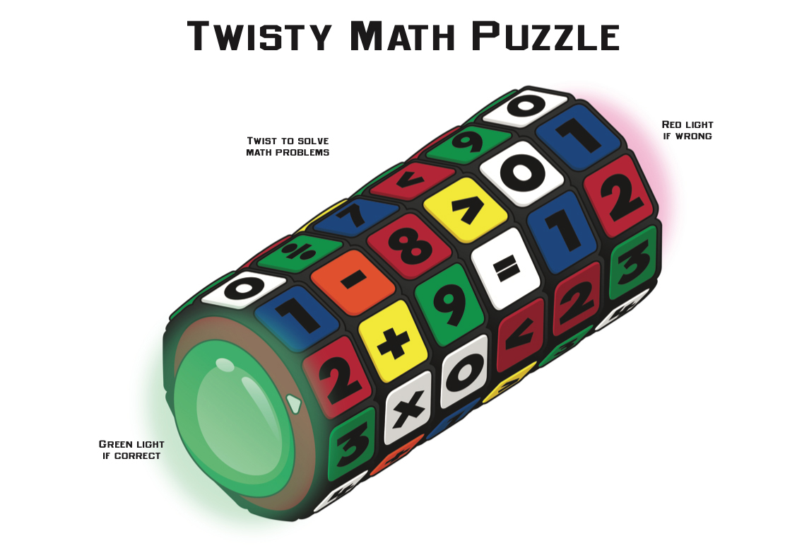 Rubik's Cube-Twisty Math Puzzle
