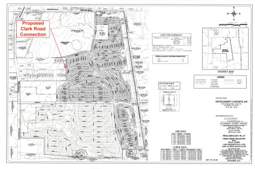 plan showing no connection to Clark Road