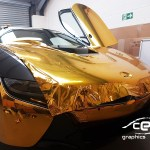 Bmw I8 Gold Chrome Car Wrapping Cee Graphics Manchester
