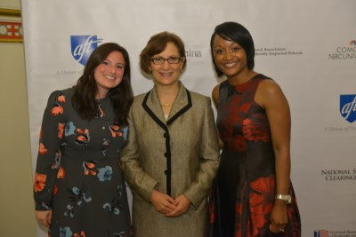 Rep. Suzanne Bonamici, Lakeisha Steele, and Ally Bernstein