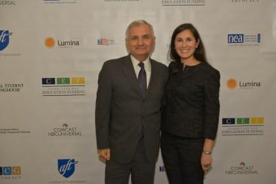 Senator Jack Reed and CEF President Jocelyn Bissonnette