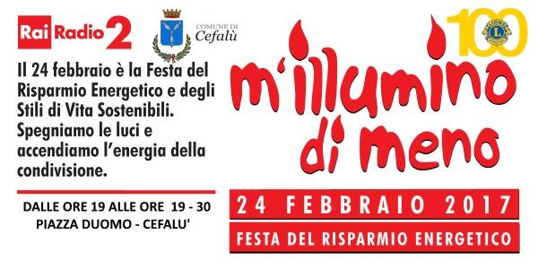 """Il Comune di Cefalù, in collaborazione con il Lions Club Cefalù ha aderito all'iniziativa """"M'illumino di Meno"""""""