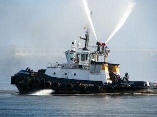 Spraying Tugboat 2