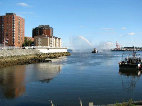 Spraying Tugboat 3