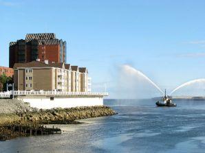 Spraying Tugboat 4