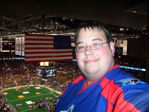 Me at the Toronto Rock Game
