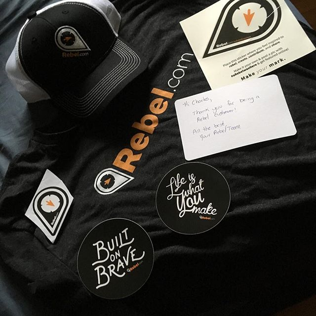 Out of the blue I returned home to a giant black box that was filled with swag from my awesome Domain and Hosting provider @rebeldotcom