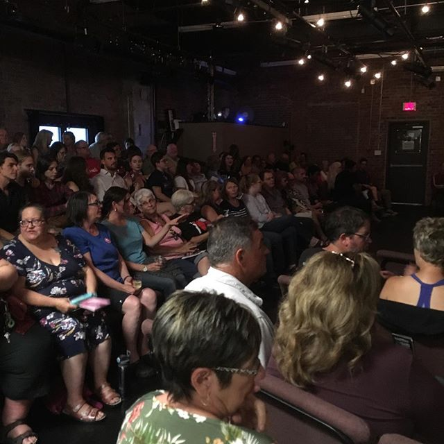 Incredible standing room turnout for the #fundyfringe big tease.