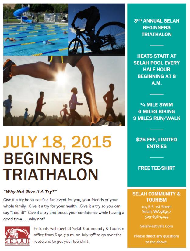 Selah Adventures Beginner Triathlon flyer