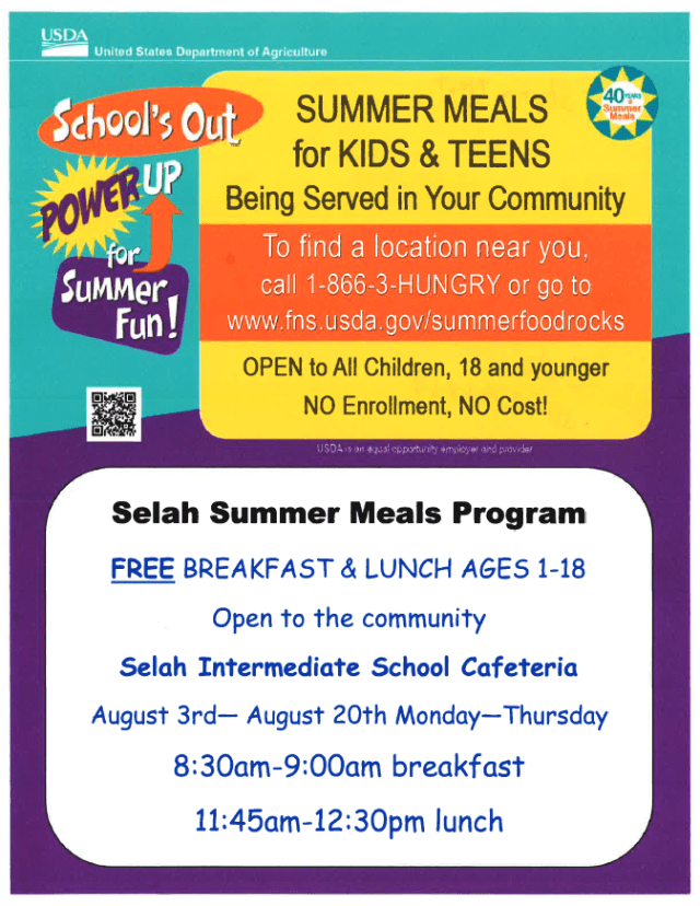 Selah Summer Meals Program