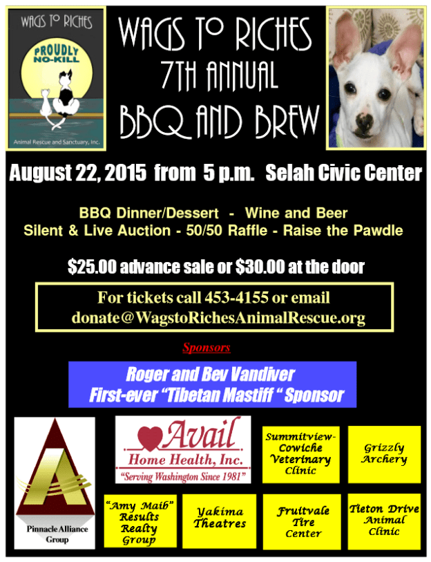 WAGS to RICHES Animal Rescue 7th Annual BBQ and Brew