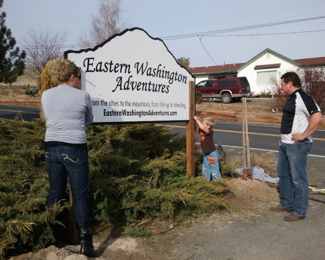 EWA Sign - Thank you Pegasus Northwest! 5