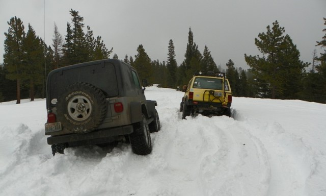 Sledding/Snow Wheeling Run at the Ahtanum State Forest 80