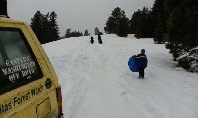 Sledding/Snow Wheeling Run at the Ahtanum State Forest 86