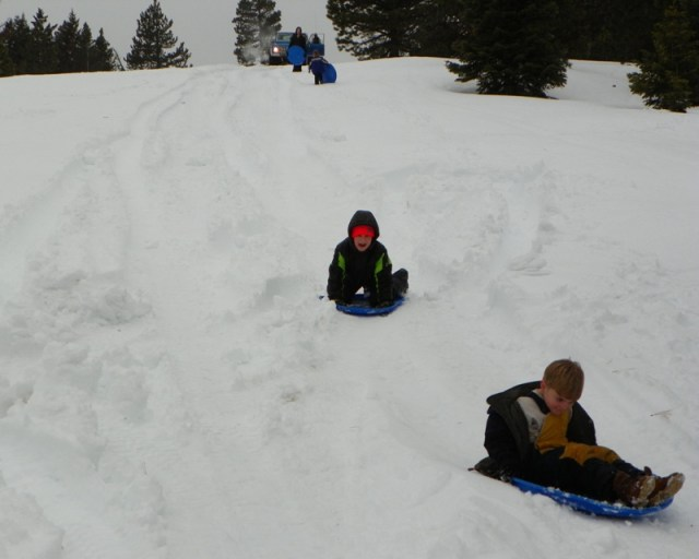 Sledding/Snow Wheeling Run at the Ahtanum State Forest 90