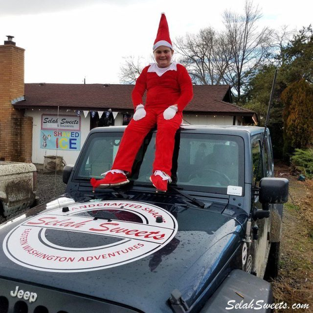 Elf on the Jeep