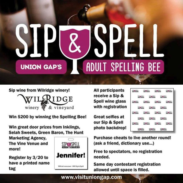 Sip & Spell - Union Gap's Adult Spelling Bee!