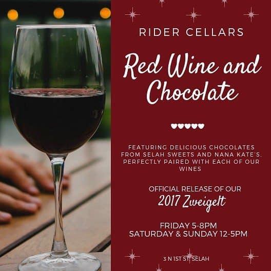 Rider Cellars Red Wine and Chocolate