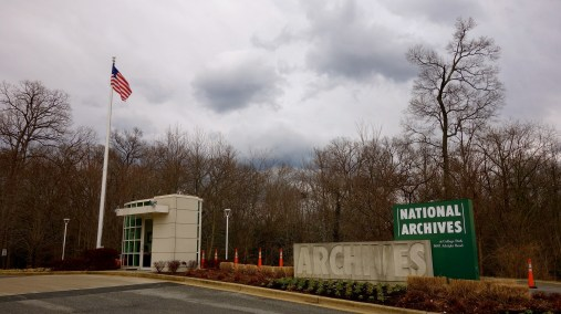 The entrance to NARA in College Park
