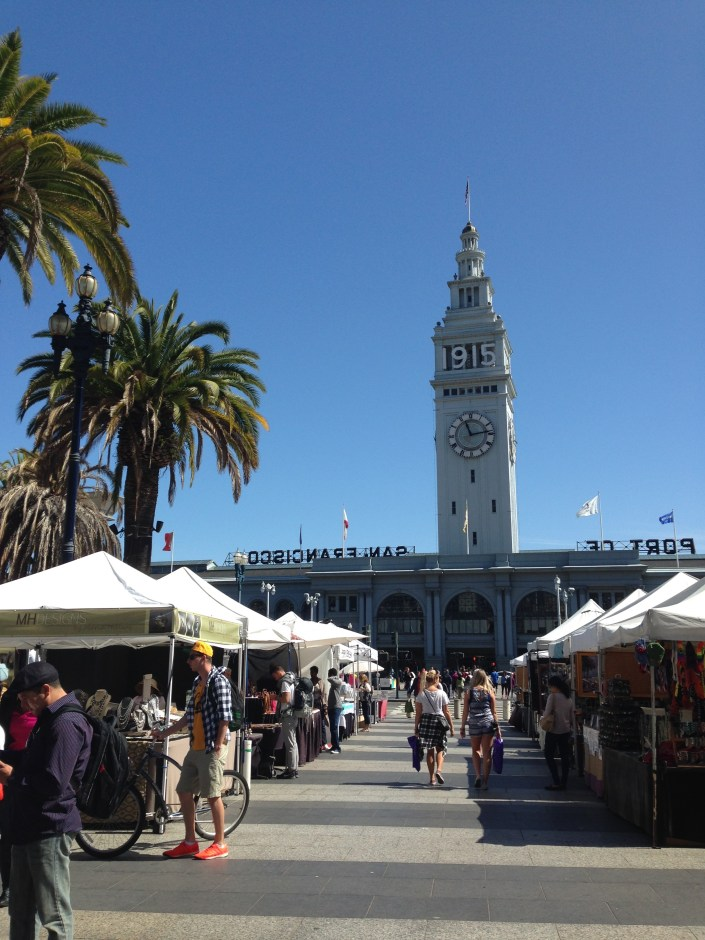 Strolling the Saturday markets at the Port of San Fransisco