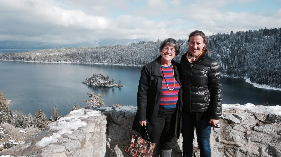 Libby and me at Emerald Bay on Lake Tahoe, California.