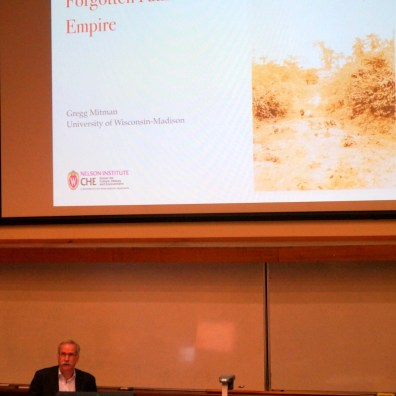 Gregg Mitman at the Fenner School of Environment and Society, ANU