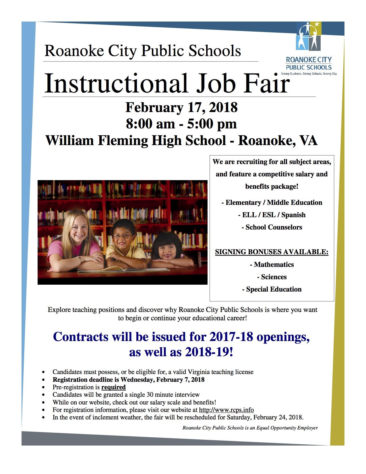 Upcoming Job Fairs For Educators