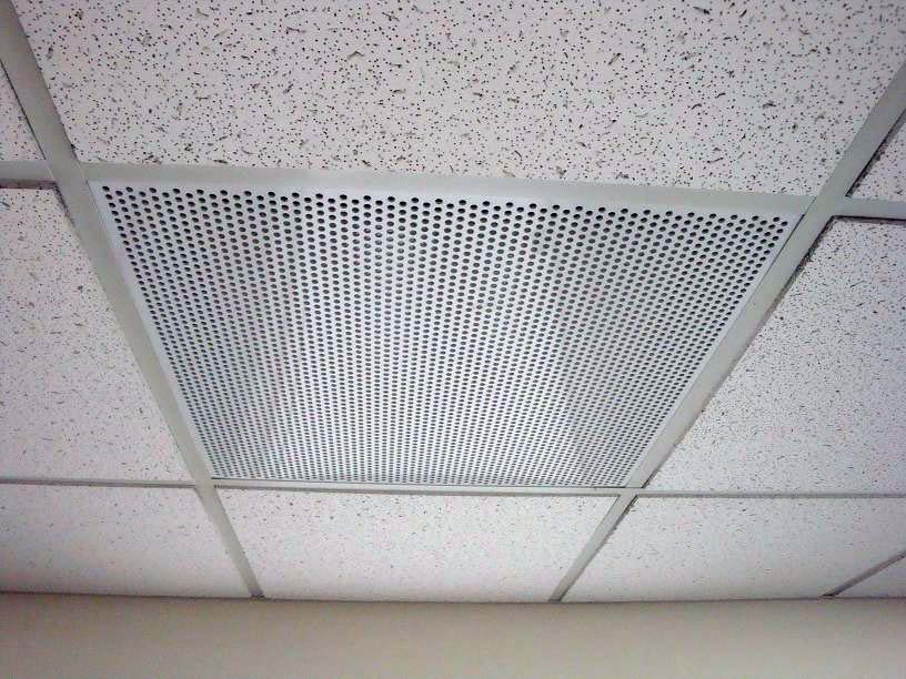 Grid Ceiling Return Air Grille : Air return supply exhaust ″ perforated hole