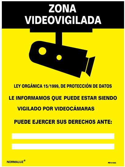 zona video vigilancia
