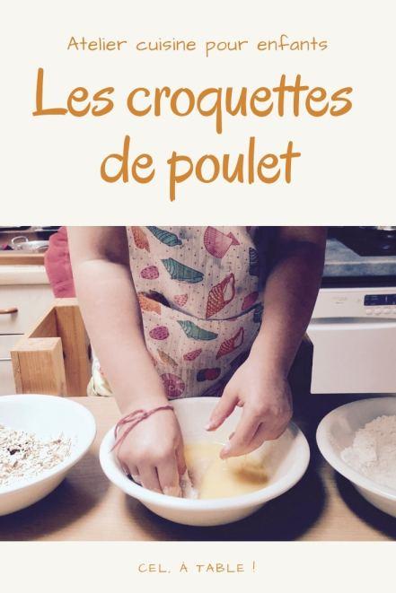 atelier cuisine pour enfants : les croquettes de poulet