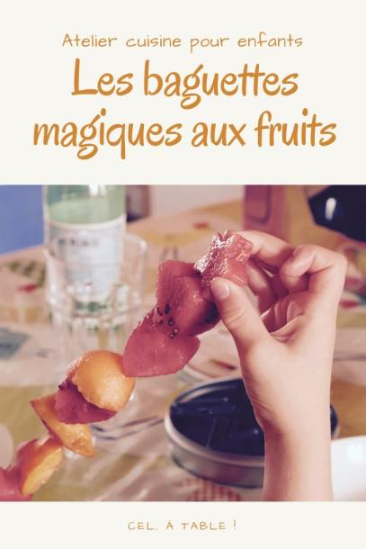 Atelier cuisine pour enfants : les baguettes magiques aux fruits