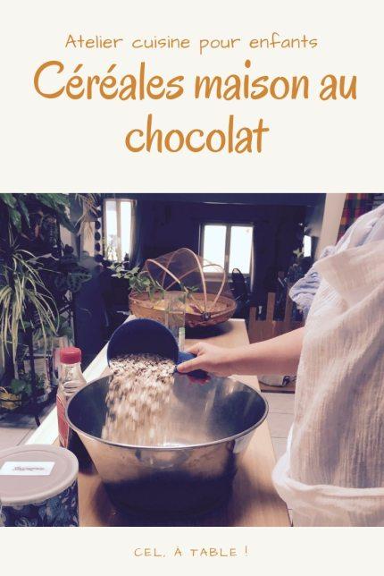 Atelier cuisine pour enfants : céréales maison au chocolat