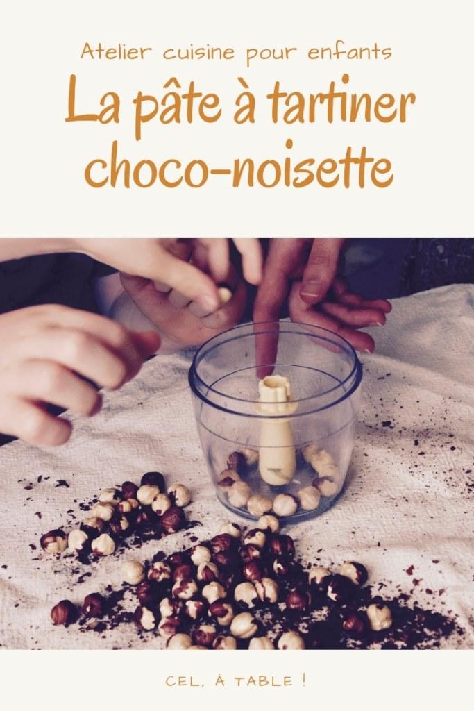 Atelier cuisine pour enfants : la pâte à tartiner chocolat-noisettes