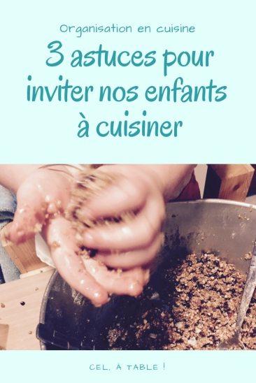 3 astuces pour inviter nos enfants à cuisiner