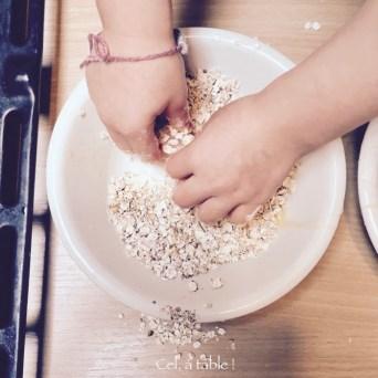 enduire le poulet de flocons d'avoine épicés