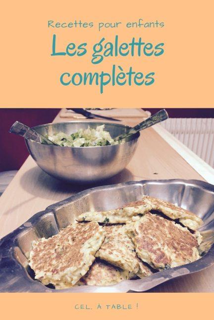 galettes complètes courgettes-lentilles-flocons d'avoine