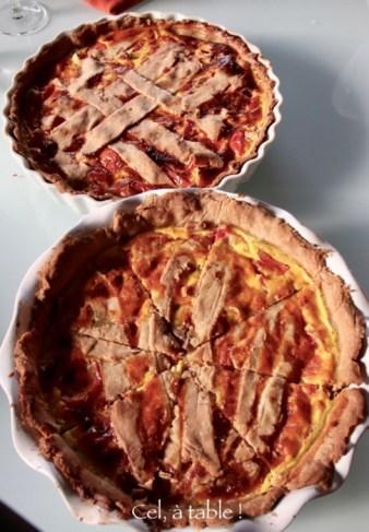 Les deux quiches à la tomate réalisées