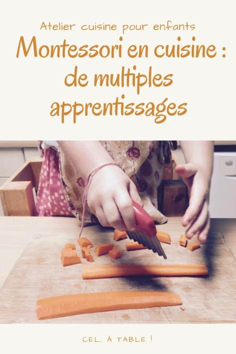 Montessori en cuisine : de multiples apprentissages