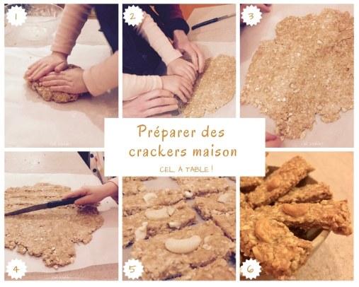 Les étapes pour préparer des crackers maison