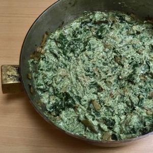 fondue de blettes crémeuses