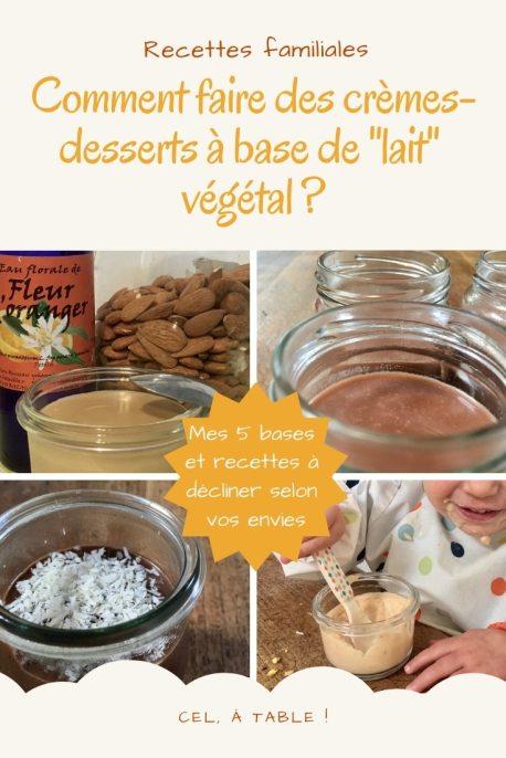 Comment faire des crèmes végétales à base de lait végétal ?