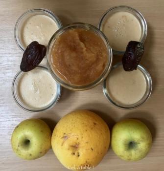 les fruits pour faire de la compote et des crèmes-desserts au lait d'amande
