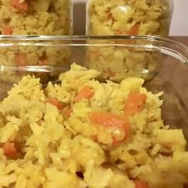 Dhal de lentilles, riz et carottes ... parfait à cuisiner en grande quantité et congeler