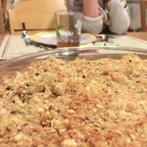 gratin de chou-fleur prêt à être mangé