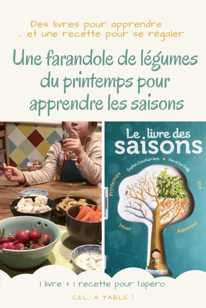 Une farandole de légumes du printemps et un livre pour apprendre les saisons