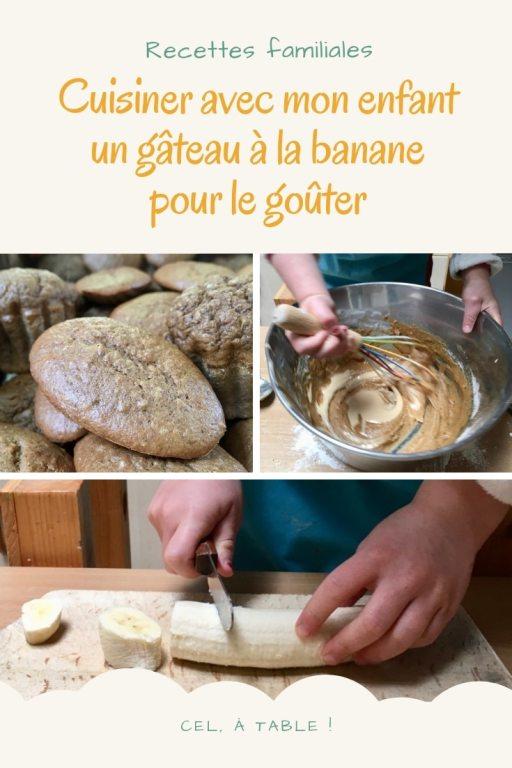 cuisiner avec son enfant un gâteau à la banane